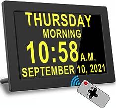 Digital Alarm Clock with 16 Alarms, Remote Control, 4 Text Colors, Custom Alarms, Day Date Calendar Clock