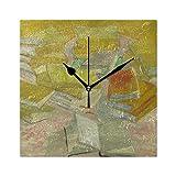 MONTOJ Van Gogh French Novels Doppelwecker rund Wanduhr Schreibtisch Uhr Standuhr