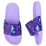 Torotto Chanclas de baño unisex para niños, para verano, planas, antideslizantes, para el baño, Mry Purple, 30/31 EU