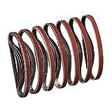 Sruhrak Schleifband 13 x 457 mm,Schleifband Set je 5 x Korn 40/60/80/120/180/240/320 für Bandschleifer Schleifmaschine,Am besten für Holz und Farbe(35 Stück)