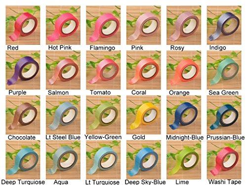 Angel Malone 1x Premium roll salmone Plain Paper Washi tape Deco nastro adesivo. Ideale per tutte le vostre creazioni: biglietti, scrapbooking, cucito, bomboniere e molto altro