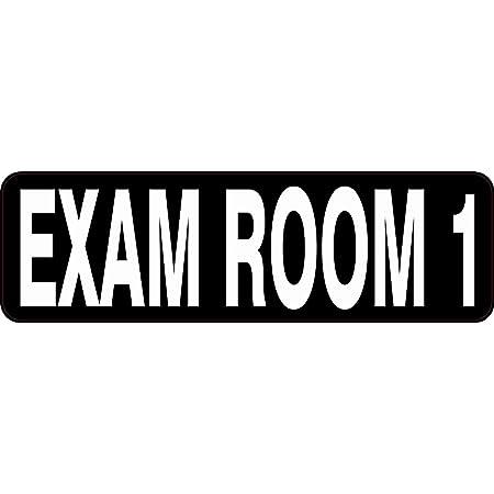 10 inches x 3 inches StickerTalk Exam Room A Vinyl Sticker
