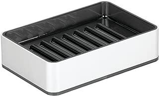 InterDesign Metro Ultra Rustproof Aluminum Bar Soap Dish for Bathroom Vanities, Kitchen Sink - Silver/Smoke