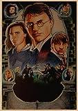 qiaolezi Harry Wanted Order No deseable No.1 Cartel de Kraft Edición Limitada Harry Movie Art Posters Sirius Black Poster A481 50 × 70CM Sin Marco