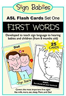 Sign Babies ASL Flash Cards, Set One: First Words