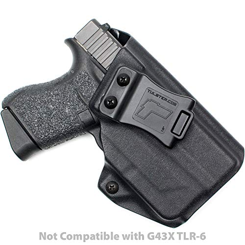 Tulster Glock 43 w/TLR-6 Holster IWB Profile Holster (Black - Right Hand)