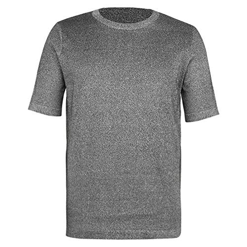 Cut Resistant Clothing Cut-proof Clothes Stab Proof T-shirt Safety Protection Round Neck Safety Top Level 5 Protective T-shirt for Workers in Metal Manufacturing Wood Processing Glass Cutting(XXL)