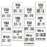 12 Pieces Inspirational Print Wall Poster...