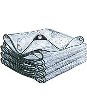 Regenjassen Thicken 5mm Outdoor PVC Transparant Zeildoek Van Plastic Rain Doek Regendicht Sun Protection Canvas Balkon Winddicht Rain Cover (Color : Clear, Size : 1x3m)