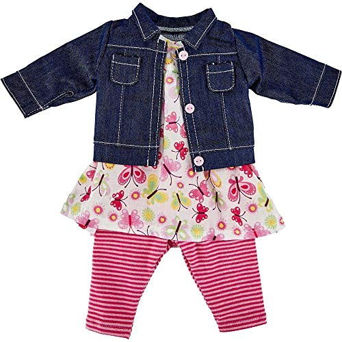 Käthe Kruse 0142808 Kindergarten Sommer Outfit 39-41 cm, pink