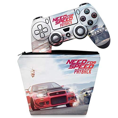 Capa Case e Skin Adesivo PS4 Controle - Need For Speed Payback