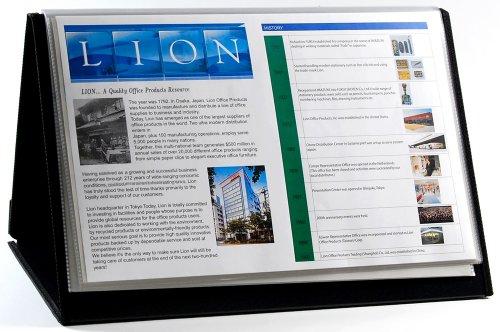 Lion LIO39011 Chevalet horizontal Flip-N-Tell Noir 17 x 11 pouces