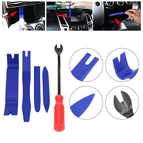 SISHUINIANHUA 5 Stks Auto Stereo Installatie Kit Auto Radio Verwijdering Gereedschap Auto Radio Panel Deur Clip Panel Trim Dash