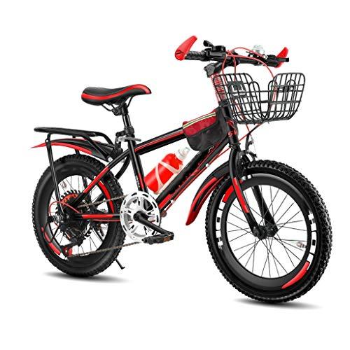 TXTC 18 / 20inch Rad Kinderfahrrad, Mountain Bikes Mit Doppelscheibenbremse, Verdickte Reifen, High Carbon Stahlrahmen, Variable Speed Cruiser Fahrrad for Erwachsene, Mädchen, Junge, Teenager