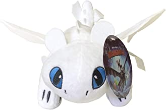 How to Train Your Dragon Light Fury Toothless Light Fury Stuffed Animal Plush Doll Toy Dragons Defenders of Berk 10inch