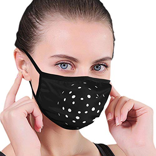 Cor-onaVirus icon Anti-dust Face Mouth Dust Mask for Camping Travel Black