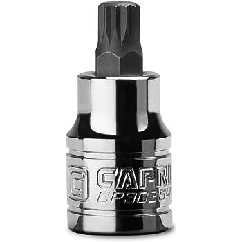 3//8-Inch Drive Capri Tools 10 mm M10 Stubby XZN Triple Square Bit Socket