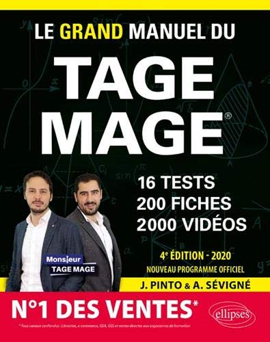 Le Grand Manuel du TAGE MAGE – 16 tests blancs + 200 fiches de cours + 2000 vidéos – édition 2020