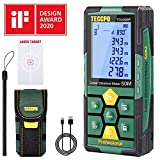 *Telémetro làser *50m, USB *30mins Càrrega ràpida, *TECCPO Mesurador Làser, Electrònic Angle Sensors, 99 Dades, 2.25'' *LCD *Retroiluminación, Mesurament de distància, Àrea, Volum, Trípode, IP54, TDLM26P