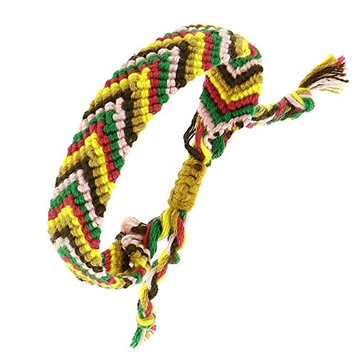 FASHIONGEN - Damen Brasilianisches Baumwolle Armband HENDA - Gelbsenf