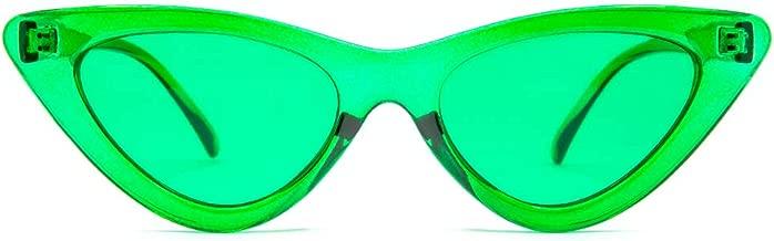 GloFX Cat Eye Sunglasses - Retro Vintage Mod Fashion Colored Lens UV Protection Glasses