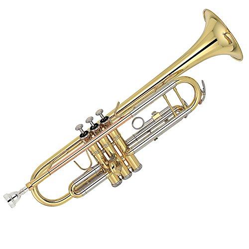 Kaizer TRP-2000LQRC 2000 Series Double Braced B Flat Bb Trumpet - Gold
