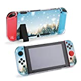 SUPNON Switch Case Compatible with Nintendo Switch Games Protective Hard Carrying Cover Case for Nintendo Switch Console Joy Con Controlle - Beautiful Winter Landscape with Snow Covered Design30016