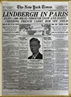 ポスター ピーター リンドバーグ VISIONAIRE(ヴィジョネアー)チャールズ・リンドバーグ NYタイムズ1927年5月22日 額装品 アルミ製ハイグレードフレーム(ゴールド)