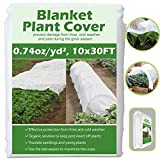 Valibe Plant Covers Freeze Protection 10 ft x 30 ft Floating Row Cover Garden Fabric Plant...
