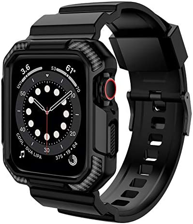 OROBAY Compatible with Apple Watch Band 44mm 42mm with Case Shockproof Rugged Band Strap for product image