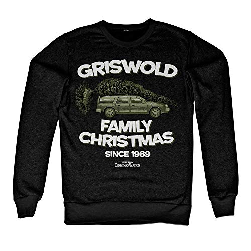 National Lampoon's Vacation Offizielles Lizenzprodukt Griswold Family Christmas Sweatshirt (Schwarz) Large