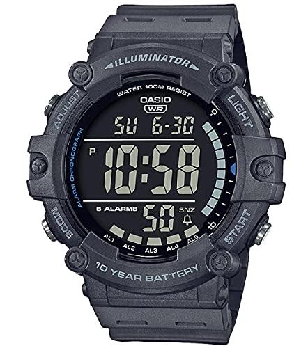 Casio Unisex-Erwachsene Digital Quartz Uhr mit Kunststoff Armband AE-1500WH-8BVEF