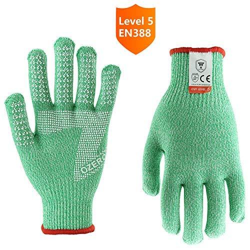 Ozero schnittfeste Handschuhe, Küchenhandschuhe zum Schneiden und Hacken, grün, .