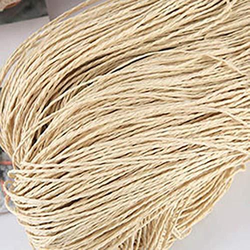 SINS Raffia Garn Kintting Papier Strohgarn zum Häkeln Hut Fancy Garn Blumenverpackung Handgemachtes Material, beige