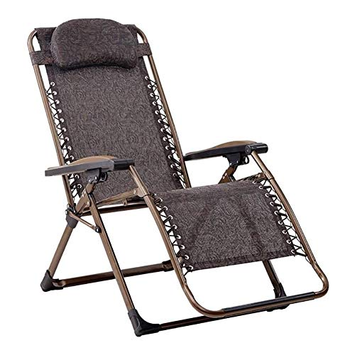 Sonnenliege Liegestuhl Zero Gravity Stühle Tragbare Klappstuhl mit Kopfstütze, Erwachsener zu Hause Stuhl, Büro Essen Stuhl, Outdoor-Camping-Strandkorb, Last 200kg