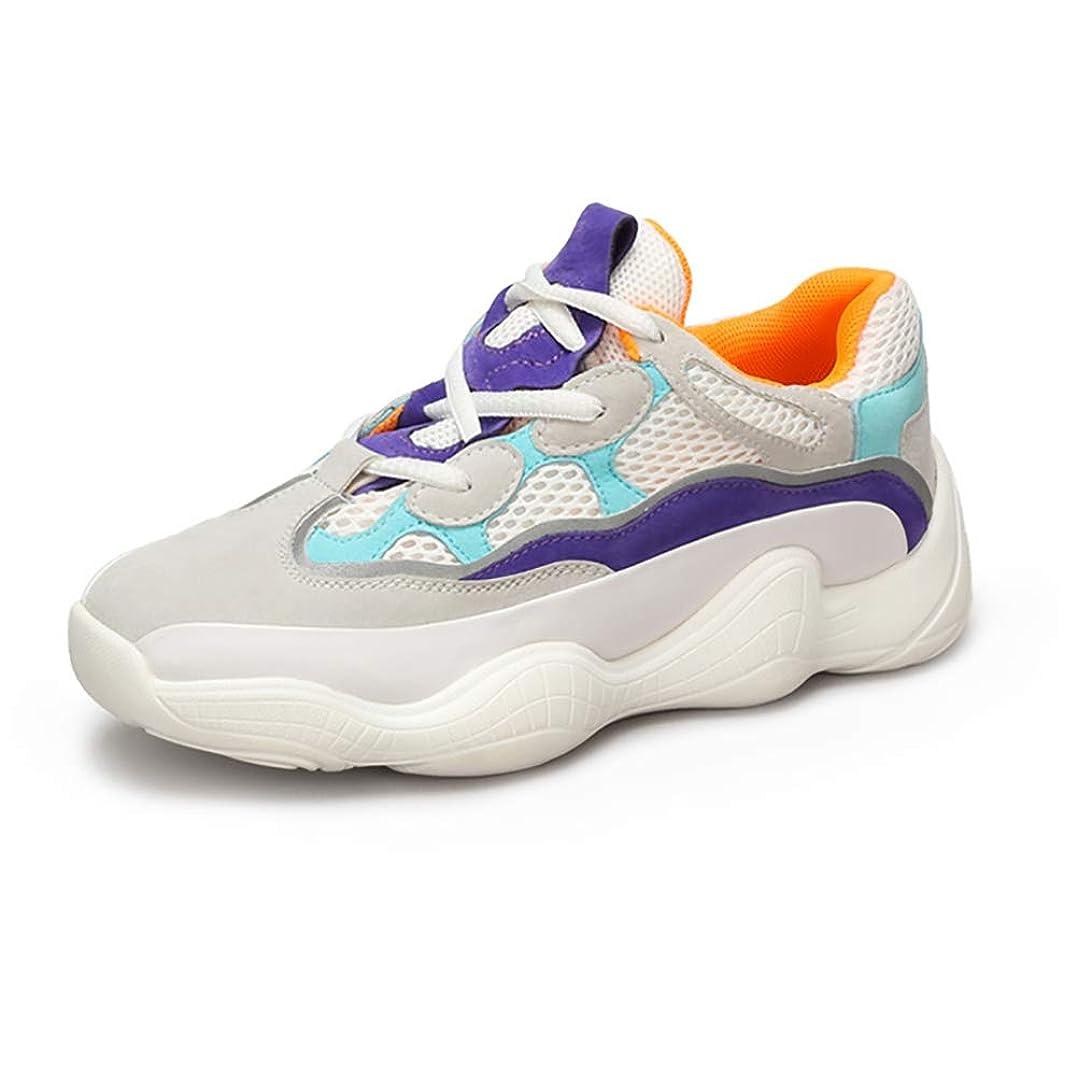 ずらす状況小麦婦人靴秋スーパーファイブ香港スタイル醜い靴スポーツ靴女性の色任意 (色 : 白, サイズ さいず : 40)