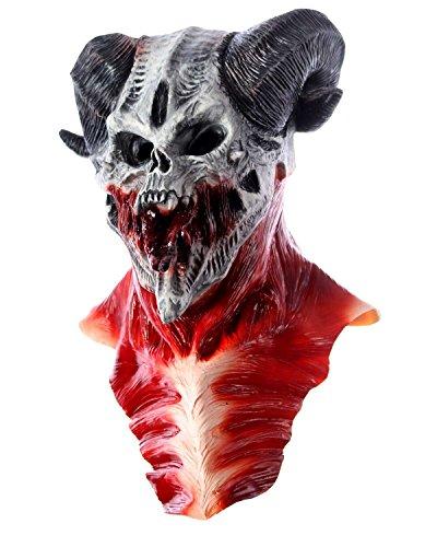 Halloween Maske Horror Dämon Zombie Monster aus Latex für Erwachsene
