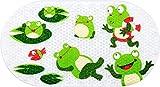 Kinder Badewannenmatte, Baby rutschfeste Badematte Anti Schimmel Zangen Sicherheitsmatte Kleinkinder Badewannenmatte für Badezimmerdusche mit starken Saugnäpfen 39 * 69CM (Frosch)