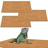 MEWTOGO 3 Pack 12 × 20 inches Reptile Carpet- Natural Coconut Fiber Substrate Mat Coco Fiber Liner...