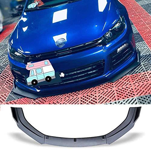 Gemmry 3PCS Auto Frontspoiler Lippe, Frontstoßstange Kinnschutz Lip Diffusor Splitter Spoiler Schutz Body Kit für Vw Scirocco R 2009-2015, Schwarz Glänzend