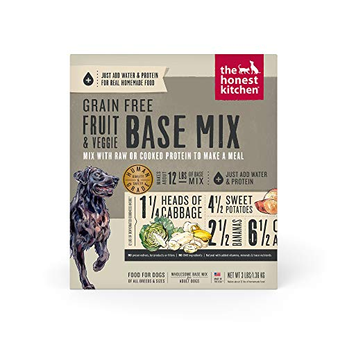 The Honest Kitchen Human Grade Dehydrated Grain Free Fruit & Veggie Base Mix for Dogs 3 lb - Preference