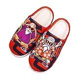 YZJYB Dragon Ball Invierno Zapatillas De Felpa Damas Hombres Impresión 3D Japonés Anime Caliente Interior Pantuflas Casuales Interiores Antideslizantes Zapatos,UK 7.5~9/EU 42~44(290)