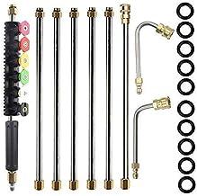 BINGFANG-W tools Hogedrukreiniger buisverlengstukken - 120 Inch Wasmachine van de Macht Gutter Cleaning Tools, Telescoping...