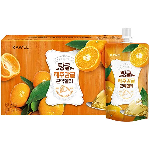 Rawel Delicous Diet Konjac Jelly 1box / 10packs / Dietary Supplement for Weight Loss/Low Calories (Jeju Mandarin)