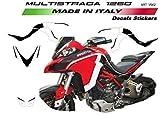 Set Pegatinas para Ducati Multistrada 1260 Design Costumbre Negro/Blanco