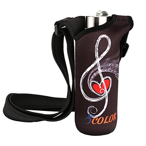 iColor Water Bottle Sleeve Holder Bottle Carrier w/Adjustable Shoulder Strap,Sling Sports Water Bottle Bag Case Pouch Cover,Fits Bottle w/The Diameter Less Than 2.75' (WBC-004)