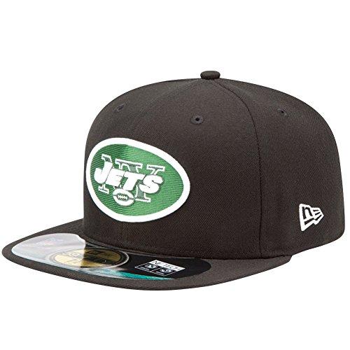 New Era 5950 Casquette de terrain NFL NY Jets pour homme Noir noir 7