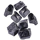 Akozon Natural Piedra Turmalina Negra Rough Rock Mineral Curación de Piedra