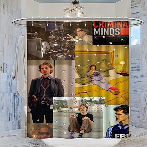 DRAGON VINES Ma-tthew Gr-ay Gub-ler Minds Duschvorhang, 183 x 183 cm, wasserdicht, mit 12 Kunststoffhaken, waschbarer Badvorhang