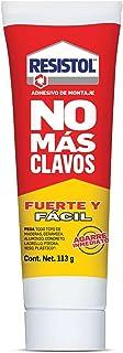 Resistol No Más Clavos Fuerte y Fácil, adhesivo fuerte, pegamento para madera, cerámica, metal y más, Resistol blanco con ...